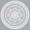 Moroccan openwork mandala vector design inspired by the boho arabic carved wood wall art patterns from Marrakesh in Morocco Royalty Free Stock Photo