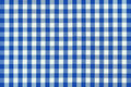 Detailed blue picnic cloth Royalty Free Stock Photos