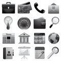 Detailed business icons Royalty Free Stock Images
