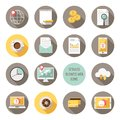 Detailed business web icons vector graphic Stock Photos