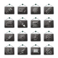 Detailed car parts icons vector icon set Royalty Free Stock Photos