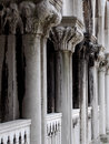 Detailed Carved Stone Columns Royalty Free Stock Photo