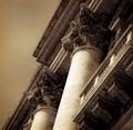 Detailed closeup of Columns at Vatican City-Sepia Tone Royalty Free Stock Photo