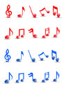 Detailed Colorful musical notes vector. Royalty Free Stock Photography