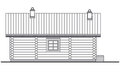 Detailed drawing of wooden sauna building facade Stock Images