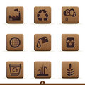 Detailed ecology icons Royalty Free Stock Photography