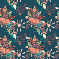 Detailed floral multicolored seamless pattern