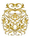 Detailed Gold Flourish Pattern Stock Images