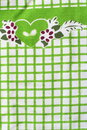 Detailed green picnic cloth for background use Stock Photo