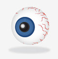 Detailed illustration eye white Stock Image
