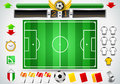 Detailed illustration info graphic set soccer field icons illustration saved eps color space rgb Stock Photos