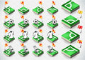 Detailed illustration set soccer corner icons illustration saved eps color space rgb Royalty Free Stock Photography