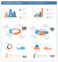 Detailed infographic elements set with graphics and charts eps Royalty Free Stock Images