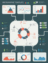 Detailed infographic elements set with graphics and charts eps Royalty Free Stock Image
