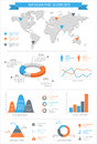 Detailed infographic elements set with world map graphics and ch charts eps Royalty Free Stock Image