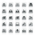 25 Detailed Internet Icons Royalty Free Stock Photo