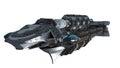 Detailed interstellar spaceship Royalty Free Stock Photo