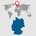 Detailed map of Germany and World map navigation set. Flat vecto