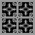 Detailed monochrome tile Royalty Free Stock Image
