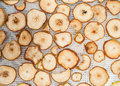 Detailed photo home made dehydrated apples pears Stock Photos
