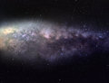 Detailed picture of milky way galaxy with many bright stars and nebulae Stock Photos