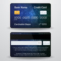 Detailed realistic vector credit card. Front and back side. Money, payment symbol Royalty Free Stock Photo