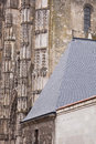 Detailed saint gatien detail of the exterior of cathedral in tours france Royalty Free Stock Images