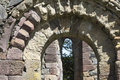 Detailed stone archways innisfallen abbey on innisfallen island lough leane killarney county kerry Stock Photography