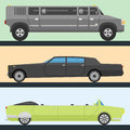 Detailed vector luxury limousine long car transportation detailed auto business transport design speed pickup graphic
