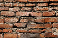 Detailed view of the brick wall Royalty Free Stock Photo