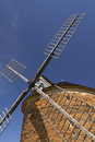 Detailed view of the brick windmill. Royalty Free Stock Photo