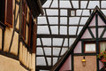 Detailed View of Half-Timbered Architecture Royalty Free Stock Images