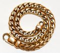 Detailed view of karat gold bracelet exotic solid wrist chain Stock Images