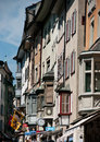 Detailed view of old buildings in schaffhausen heritage old town Royalty Free Stock Photos