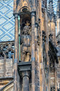 Detailed view of the statue on Prague Castle in Prague Stock Photography