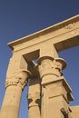 Detailed view at The Temple of Isis at Philae Stock Photo
