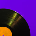 Detailed vinyl lp close up background with shallow depth of field Royalty Free Stock Images