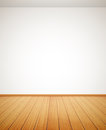 Detailed wood floor and white wall eps Stock Photos