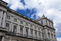 Details of the ajuda national palace in lisbon portugal built modern neoclassical style with a façade ashlar limestone and Royalty Free Stock Photography