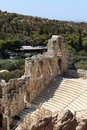 Details of ancient Odeon of Herodes Atticus Royalty Free Stock Photography