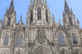 Details of Barcelona Cathedral in Gothic Quarter, Spain Royalty Free Stock Photo