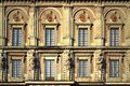 Details of baroque style building of The Royal Palace of Stockholm, Sweden Royalty Free Stock Photo