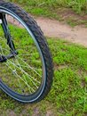 Details of bicycle wheel Royalty Free Stock Image