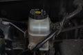 Details of a brake fluid reservoir Royalty Free Stock Photo