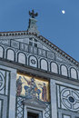 Details of church san miniato al monte in florence tuscany italy Stock Photos