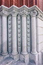 Details of columns at entrance to Williams Hall at University of Vermont Royalty Free Stock Photo