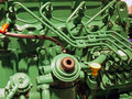 Details of a diesel engine motor Royalty Free Stock Photo