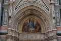 Details of the exterior of the Cattedrale di Santa Maria del Fiore Cathedral of Saint Mary of the Flower. Royalty Free Stock Photo