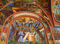 Details of a fresco and orthodox icon painting in rila monastery church in bulgaria the or the saint ivan famous Stock Photo