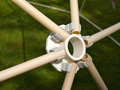 Details of geodesic dome roof structure Royalty Free Stock Photo